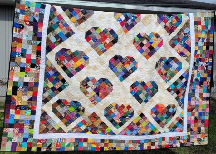 Queen Size Handmade Quilt for Raffle